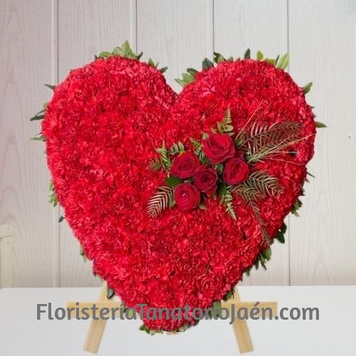 Corazón Funerario Rojo Jaén