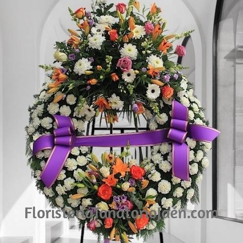 Corona Funeraria Clavel Premium Jaén